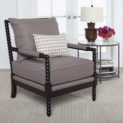 Colonnade Spindle Arm Chair Upholstery: Dark Taupe