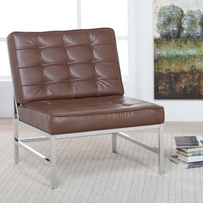 Ashlar Slipper Chair Upholstery: Brown