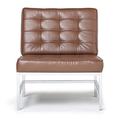 Ashlar Slipper Chair Upholstery: Brown