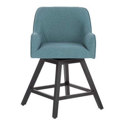 Spire Swivel Dining Chair Upholstery: Baltic
