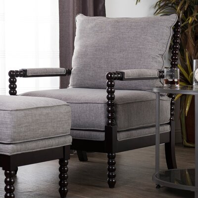 Colonnade Spindle Arm Chair and Ottoman