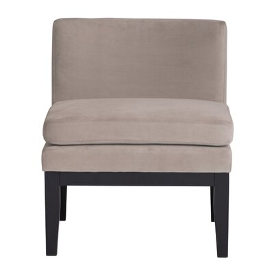Cornice Contemporary Slipper Chair Upholstery: Gray Pumice