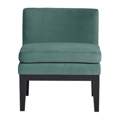 Cornice Contemporary Slipper Chair Upholstery: Green Teal
