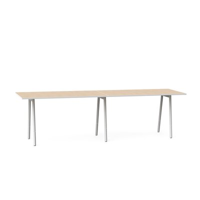 Training Table Tabletop Finish: Light Oak / White, Size: 40 H x 144 W x 36 D
