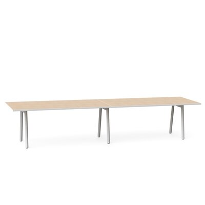 Rectangular Conference Table Top Finish: Light Oak, Size: 144 x 36
