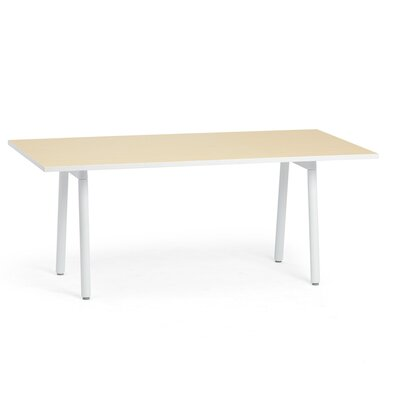 Rectangular Conference Table Top Finish: Light Oak, Size: 124 x 42