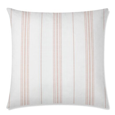 Ticking Square Throw Pillow Color: Mango