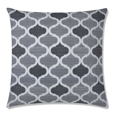 Infinity Square Throw Pillow Color: Silver