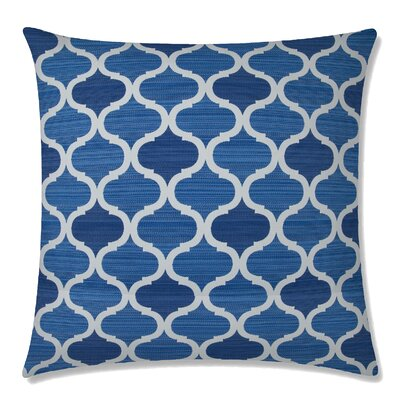 Infinity Square Throw Pillow Color: Indigo