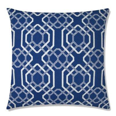 Alexandria Square Throw Pillow Color: Indigo