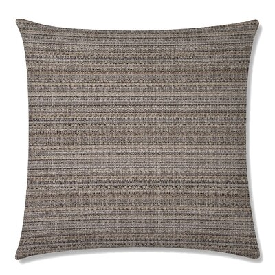 Handloom Square Throw Pillow Color: Teak