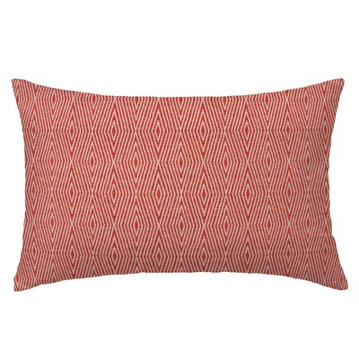Dart Rectangle Throw Pillow Color: Red Coral
