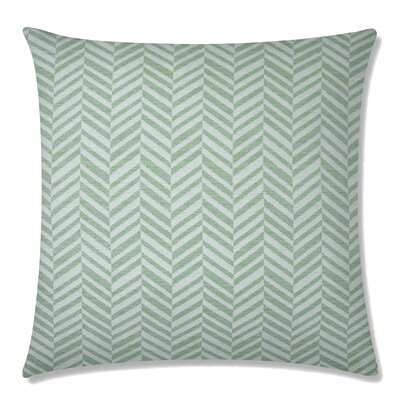 Skye Tweed Square Throw Pillow Color: Celadon