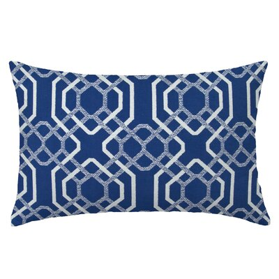Alexandria Reactangle Throw Pillow Color: Indigo