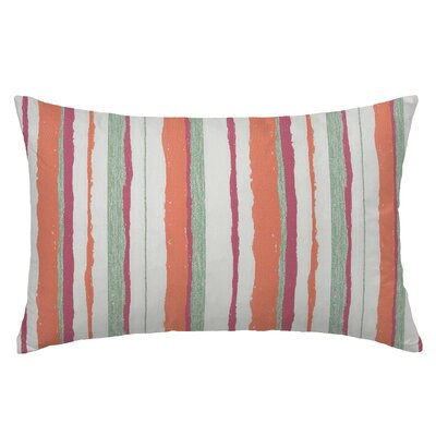 Mesa Rectangle Throw Pillow Color: Guava