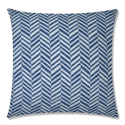 Skye Tweed Square Throw Pillow Color: Pacific