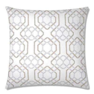 Alexandria Square Throw Pillow Color: White Sand