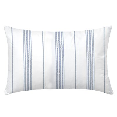 Ticking Rectangle Throw Pillow Color: Indigo
