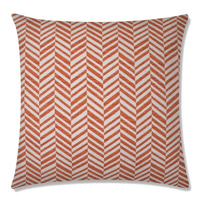 Skye Tweed Square Throw Pillow Color: Papaya