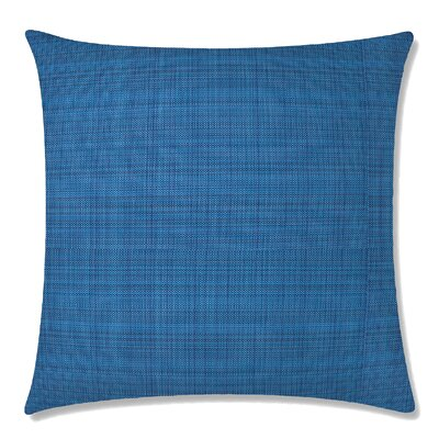 Grasscloth Square Throw Pillow Color: Indigo