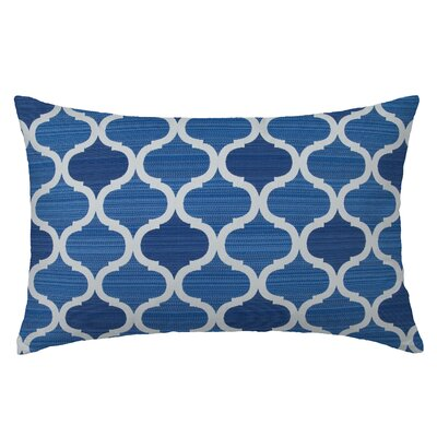 Infinity Rectangle Throw Pillow Color: Indigo