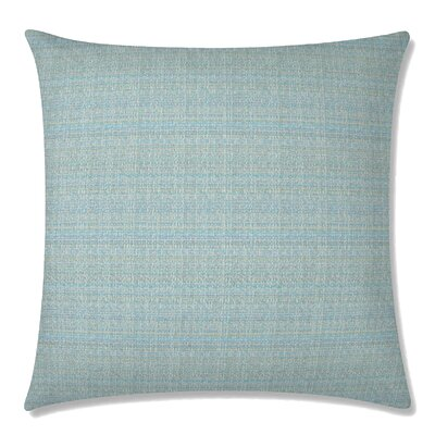 Handloom Square Throw Pillow Color: Celadon