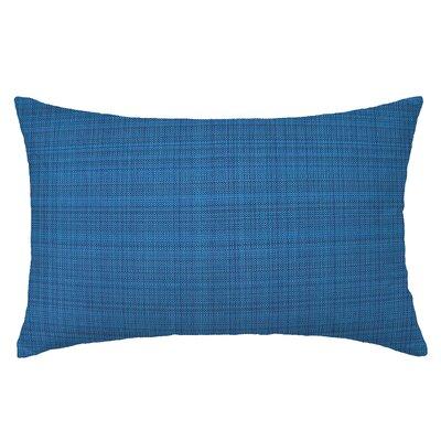 Grasscloth Rectangle Throw Pillow Color: Indigo