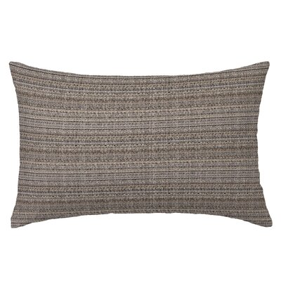 Handloom Rectangle Throw Pillow Color: Teak