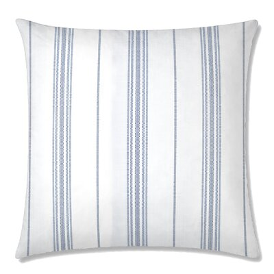 Ticking Square Throw Pillow Color: Indigo