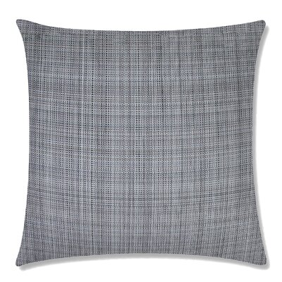 Grasscloth Square Throw Pillow Color: Pewter