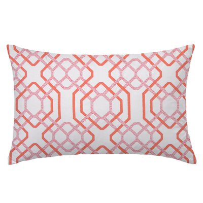 Alexandria Reactangle Throw Pillow Color: Maitai