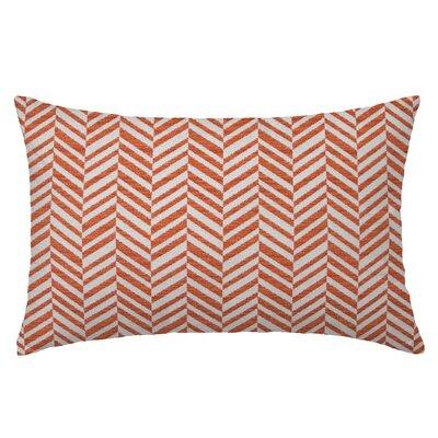 Skye Tweed Throw Pillow Color: Papaya