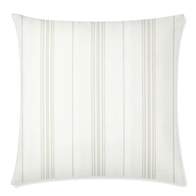 Ticking Square Throw Pillow Color: Sand