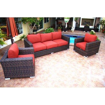 Madison 3 Piece Deep Seating Group with Cushion