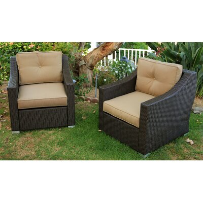 Tampa Conversation 2 Piece Deep Seating Group with Cushion