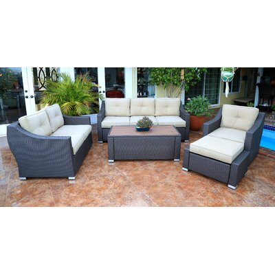 Tampa Luxury 5 Piece Deep Seating Group with Cushion