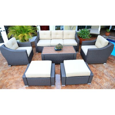 Tampa 6 Piece Deep Seating Group with Cushion