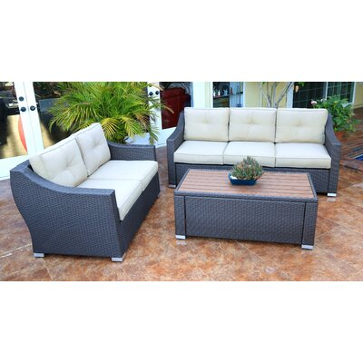 Tampa 3 Piece Deep Seating Group with Cushion