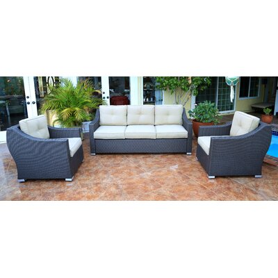 Tampa Standard 3 Piece Sofa Group with Cushion