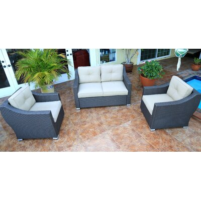 Tampa 3 Piece Small Sofa Group with Cushion