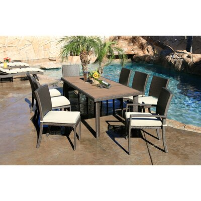 Heffington Modern 9 Piece Dining Set with Cushion