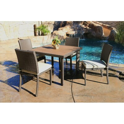 Heffington 5 Piece Dining Set with Cushion
