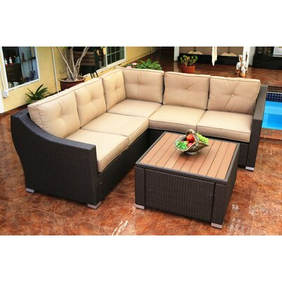 Tampa 4 Piece Deep Seating Group with Cushion