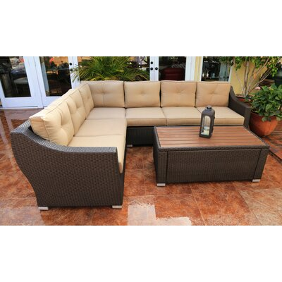 Tampa 5 Piece Sectional Seating Group with Cushion