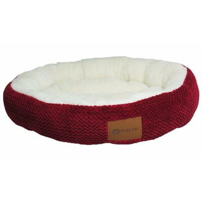 Cozy Dog Bed Color: Red, Size: 2.5 H x 28 w x 28 D