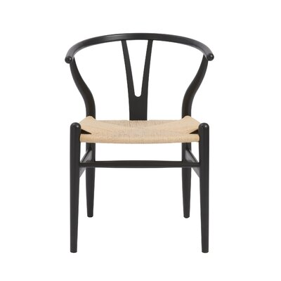 Evelina Side Chair Color: Black