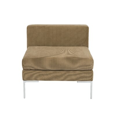05006TAN EY3042 Eurostyle Vittorio Convertible Armless Unit Sofa Upholstery