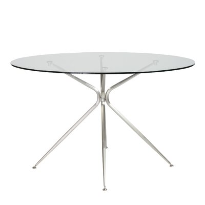 Berndt Dining Table Color: Brushed Aluminum