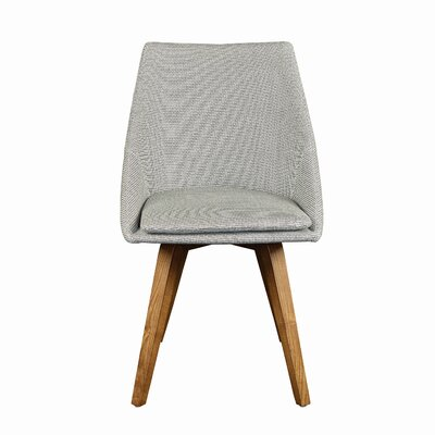 Flatiron Side Chair Upholstery Type: Leatherette, Color: Grey