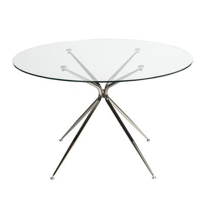 Berndt Dining Table Color: Black Nickel